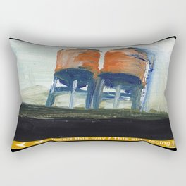 NYC Water Towers Painted on subway fare card Rectangular Pillow