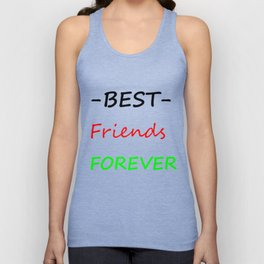 Best friends forever Unisex Tank Top