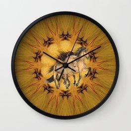 HORSES - The Buckskins Wall Clock