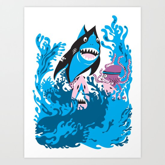 surfer brother Art Print