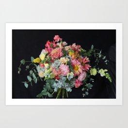 Lush Peachy Bouquet Art Print