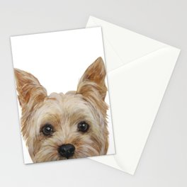 Yorkshire Terrier original painting print Stationery Cards