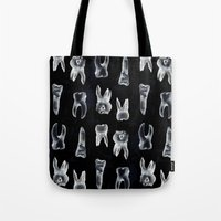 teeth Tote Bags featuring Teeth by spllinter