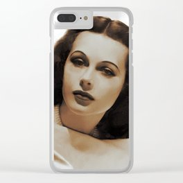 Hedy Lamarr, Hollywood Legends Clear iPhone Case