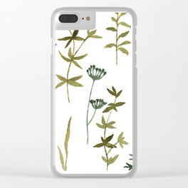 Sage Delight Clear iPhone Case