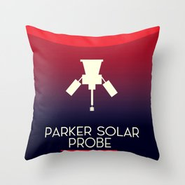 Parker Solar Probe Exploration of the corona of the sun. Throw Pillow