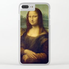 Classic Art - Mona Lisa - Leonardo da Vinci Clear iPhone Case