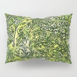 Hawaiian Green Ancient Pattern Pillow Sham