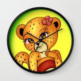 Keisha the Cheetah Wall Clock