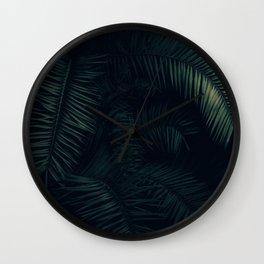 Palm Bush Wall Clock