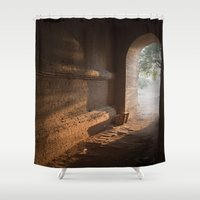 pagan Shower Curtains featuring Morning Light by Maria Heyens