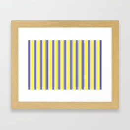 Complementary Series: 1. Purple and Yellow Gradient Framed Art Print