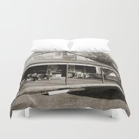 bar Duvet Covers featuring Milk Bar by SwanniePhotoArt