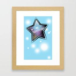 Blue Glaxay stars Framed Art Print
