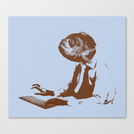 Office worker Canvas Print