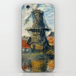 "Claude Monet ""The Windmill, Amsterdam"", 1871 iPhone Skin"