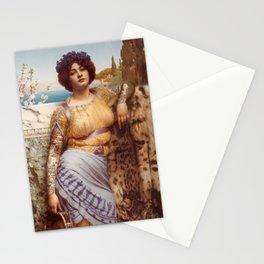 Classical Art Tattooed #1 - John William Godward Stationery Cards