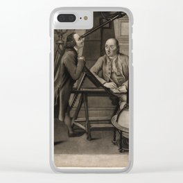 J Watson (1778) - Thomas Phelps and John Bartlett in the Macclesfield Observatory, Oxfordshire Clear iPhone Case