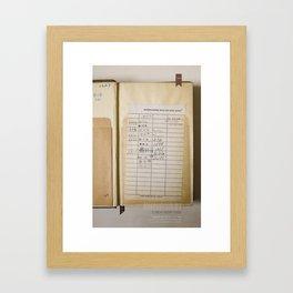 Due Date Framed Art Print