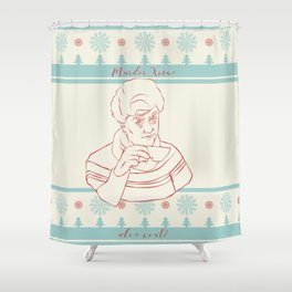 Murder Christmas Jessica Fletcher Shower Curtain