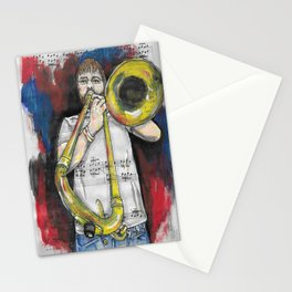 Jazz Trombone 2 Stationery Cards