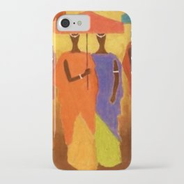 African American Masterpiece 'African Royalty' by Ellis Wilson iPhone Case