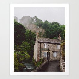 Fog over the country house Art Print