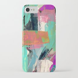 [Still] Hopeful - a bright mixed media abstract piece iPhone Case