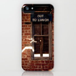 Out to Lunch iPhone Case