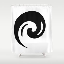 Yin Yang Exagerated Shower Curtain