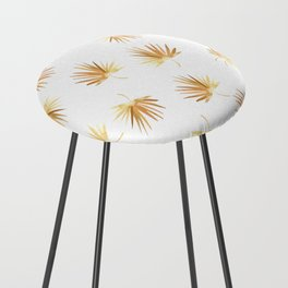 Golden Palm Leaf Counter Stool