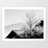 White Stillness I Art Print