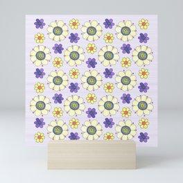 Crazy Daisies Lavender Mini Art Print