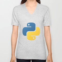 Python Official Logo Scripting Programming Language Unisex V-Neck