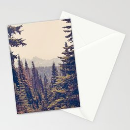 Mountains through the Trees Stationery Cards