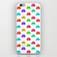 lip iPhone & iPod Skins featuring Lip Print by Vicky Ink.
