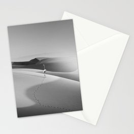 FLAMINGO IN THE DESERT Stationery Cards