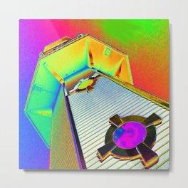 Neon Lighthouse Metal Print