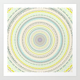 Soft Pastel Mandala Design Art Print