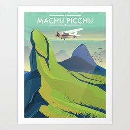 machu picchu travel poster Art Print