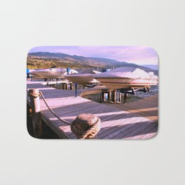 Boats on Dock Bath Mat