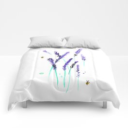Lavender & Bees Comforters