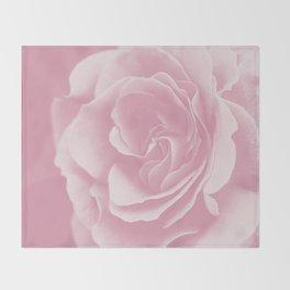 Light Pink Rose #2 #floral #art #society6 Throw Blanket