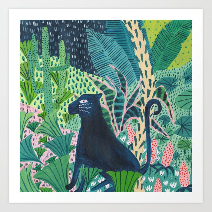 Jungle Jaguar Art Print