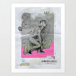 SEND NUDES Art Print