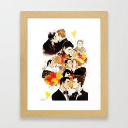 klaine throughout the seasons Framed Art Print