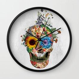 Skull - Punks Not Dead II Wall Clock