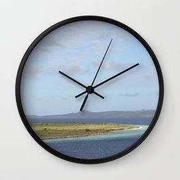 Klein Bonaire islet in the Caribbean Wall Clock