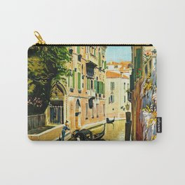 Venezia - Venice Italy Vintage Travel Carry-All Pouch