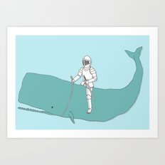 Save the whale Art Print